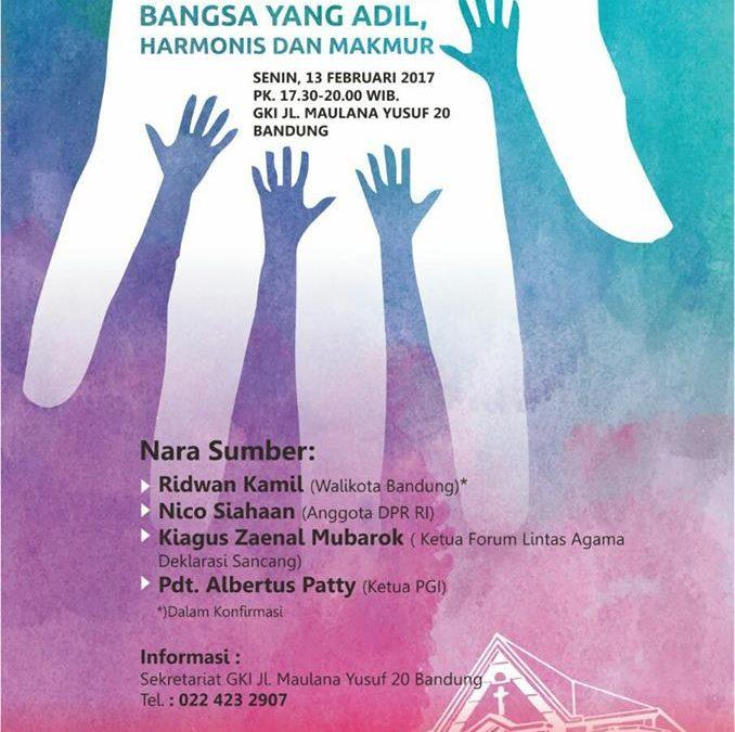 Seminar Politik: Peran Agama Dalam Membangun Bangsa yang Adil, Harmonis dan Makmur