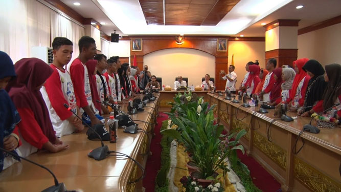 Pelajar Aceh Kunjungi Jayapura