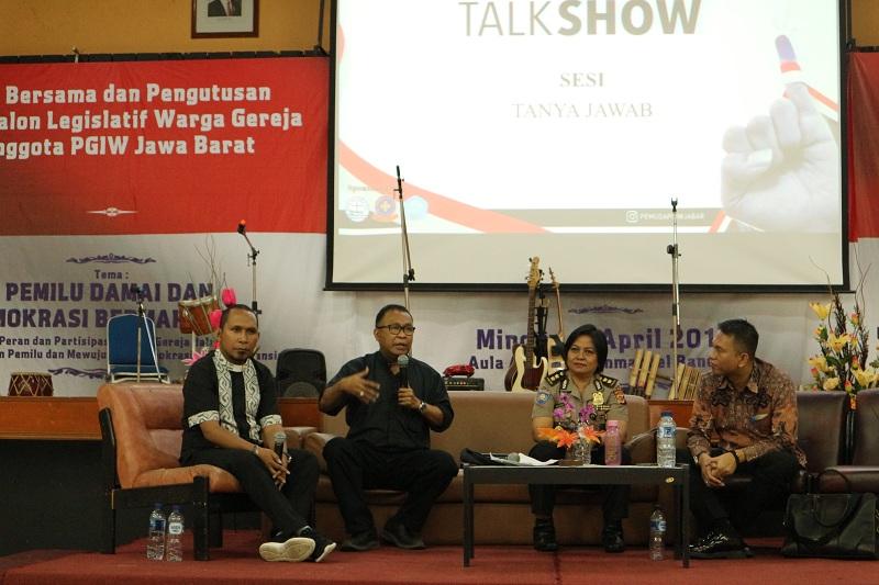 PGIW Jawa Barat Pertemukan Caleg Warga Gereja