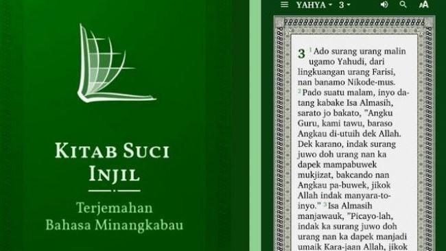 Mengapa Tak Boleh Ada Aplikasi Alkitab Bahasa Minang di Indonesia yang Beragam?