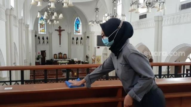 Cerita Pegawai Muslim di Gereja Santo Laurensius Tangsel di Tengah Ramadhan